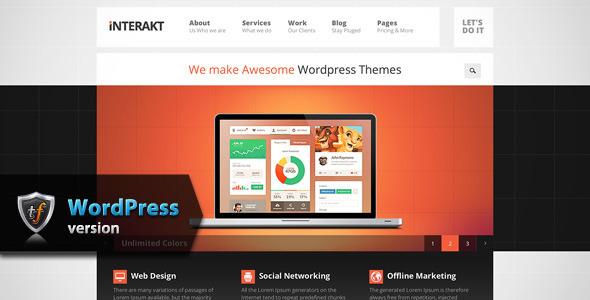 Interakt Agency – Responsive WordPress Theme