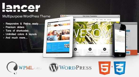 Lancer – Responsive Multipurpose WordPress Theme