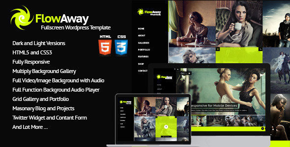 FlowAway WP Fullscreen Video/Image with Audio
