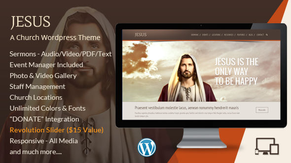 Jesus – A Church WordPress Theme