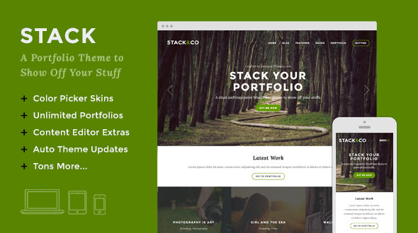 Stack – Responsive WordPress Portfolio Theme
