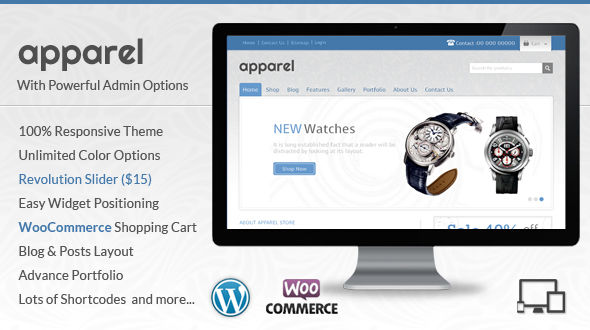 Apparel – WordPress WooCommerce Theme