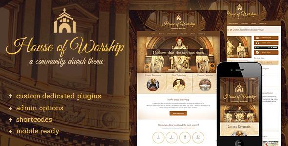 House Of Worship – Church WordPress Theme