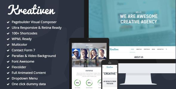 Kreativen – Responsive Creative WordPress Theme