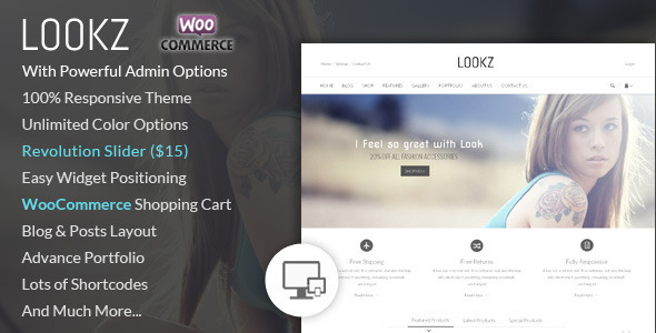 Lookz – WooCommerce Parallax Theme