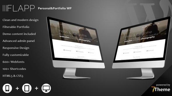 Flapp – Personal Portfolio WordPress Theme
