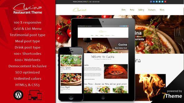 Cucina – Beautifull WordPress Restaurant Theme