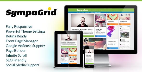 SympaGrid – Responsive Grid WordPress Theme