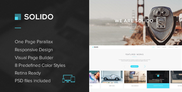 Solido – Responsive One Page Multi-Purpose Theme