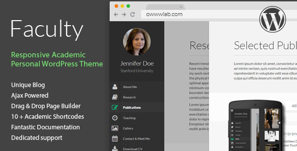 Faculty – Responsive Academic WordPress Theme