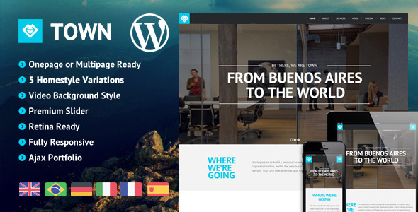 Town – Responsive Multi-Purpose One Page Theme