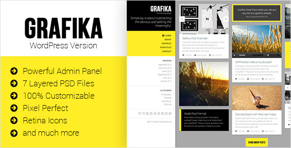 Grafika – Full Screen Portfolio & Blog Theme
