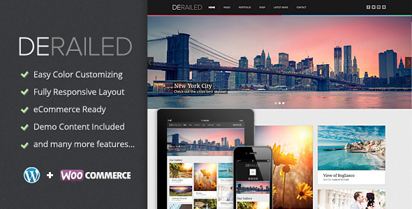 DeRailed – Photography & Portfolio Theme