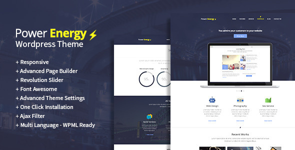 Power Energy – Multipurpose WordPress Theme