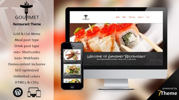 Gourmet – a WordPress Restaurant & Pizzeria Theme
