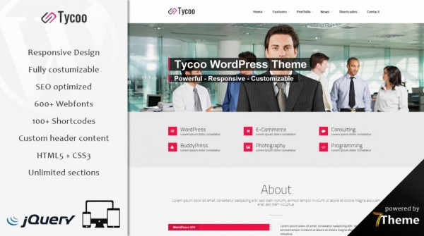 Tycoo – Multipurpose WordPress Theme