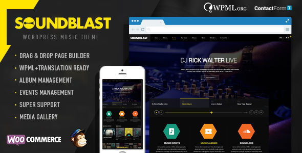 SoundBlast – Music Band WordPress Theme