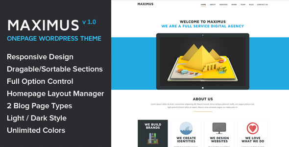 Maximus – Responsive Onepage WordPress Theme