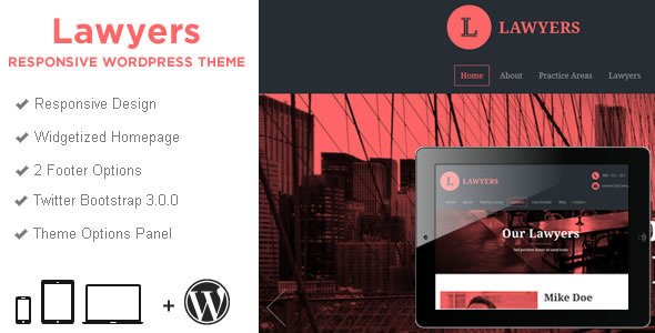Lawyers – Responsive Business WordPress Theme
