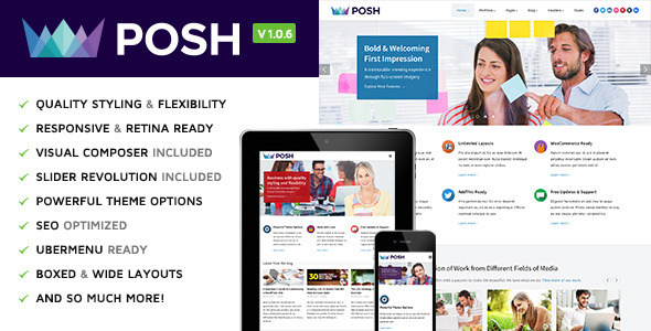 Posh Responsive Multi-Purpose WordPress Theme
