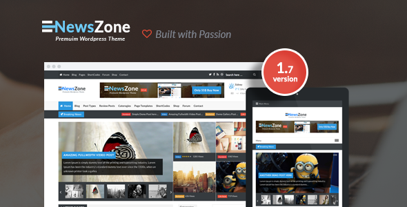 NewsZone – Responsive & Retina WordPress Magazine