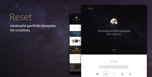 Reset – Minimalistic Portfolio Theme