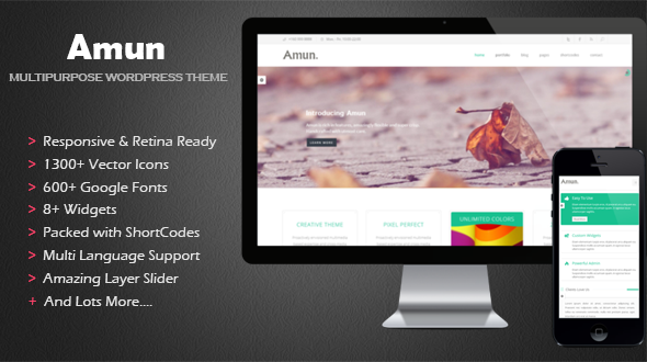 Amun Multipurpose WordPress Theme