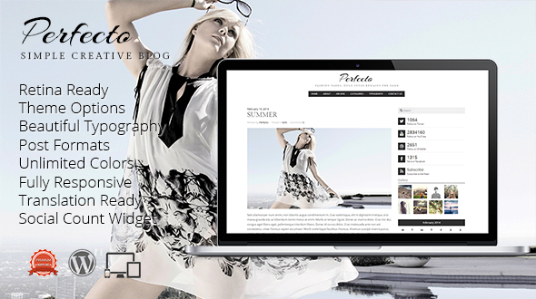 Perfecto – Retina Responsive Creative Blog