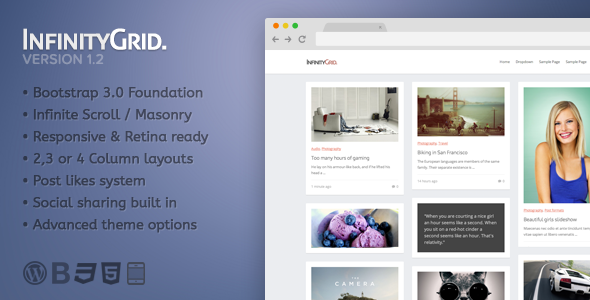 InfinityGrid – Personal blogging theme