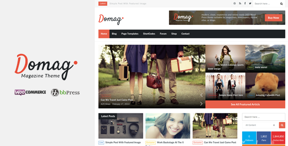 Domag l Flat Responsive & Retina WordPress Magazine