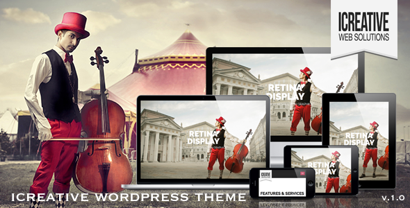 iCreative – OnePage Portfolio WordPress Theme
