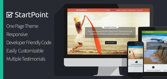 StartPoint One Page Business WordPress Theme