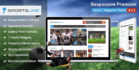 Sportsline – Responsive Sports News Theme