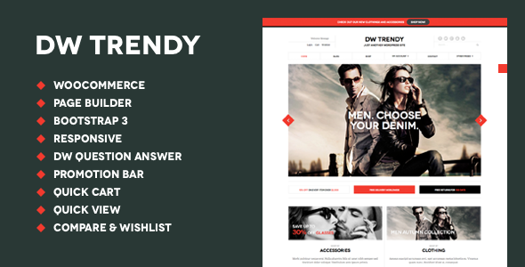 DW Trendy – Responsive WooCommerce WordPress Theme