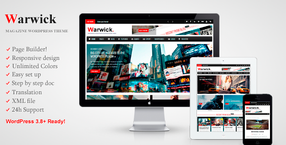 Warwick – Responsive News/Magazine WordPress Theme