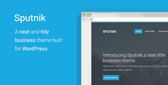 Sputnik – A Tidy Business WordPress Theme
