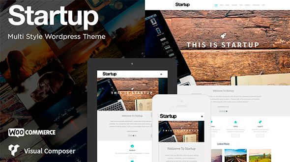 Startup – Multi Style WordPress Theme