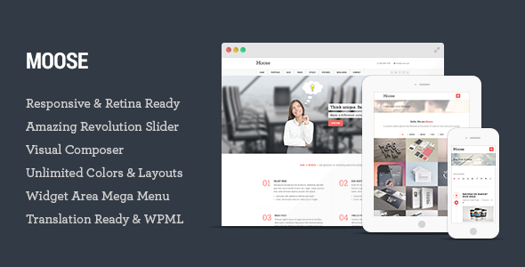 Moose – Multipurpose Responsive WordPress Theme