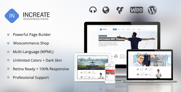inCreate – Responsive MultiPurpose WordPress Theme