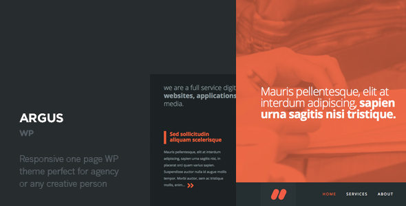 Argus – One Page Responsive WordPress Theme