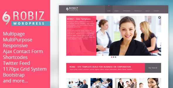 ROBIZ – Responsive Multi-Purpose WordPress Theme