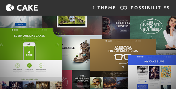 Cake – Responsive Multi-Purpose WordPress Theme