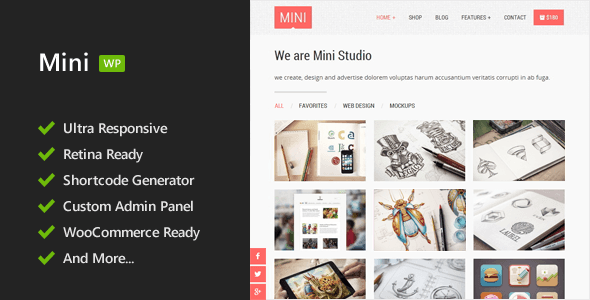 Mini – Responsive WordPress Theme