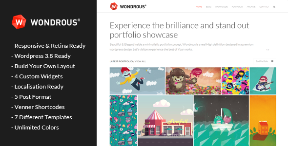 Wondrous – Portfolio Multipurpose WordPress Theme
