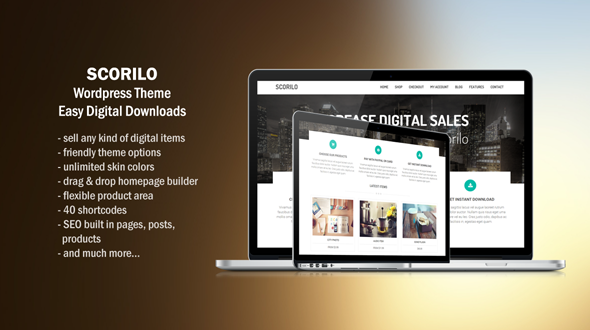 Scorilo – WP Theme for Selling Downloads