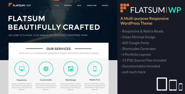 FlatSum – Multi-Purpose Responsive WordPress Theme