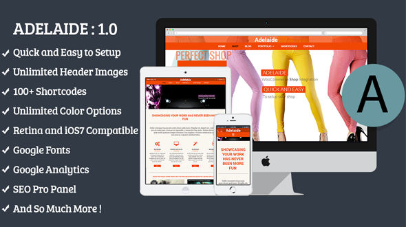 Adelaide Responsive Multi-Purpose Theme