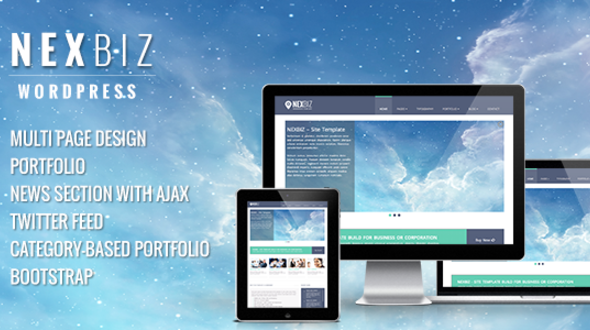 NexBIZ | Responsive Multi-Purpose WordPress Theme
