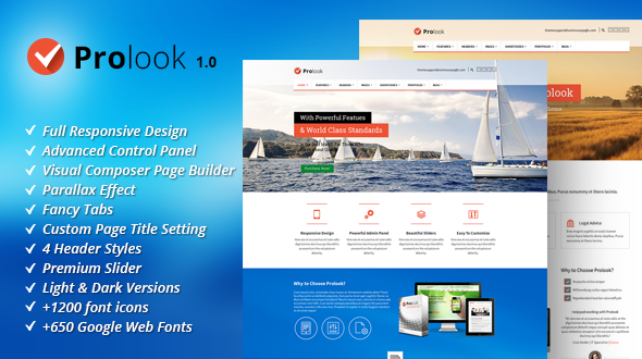 Prolook – Multipurpose Responsive WordPress Theme