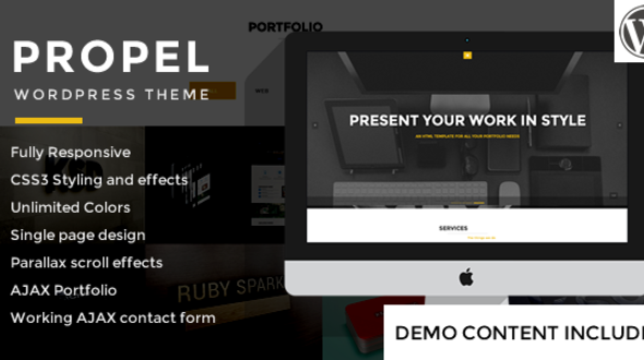 Propel – One Page Responsive WordPress Theme